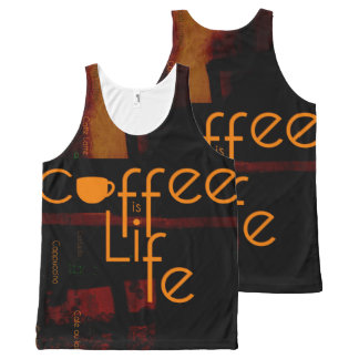 Coffee is Life All-Over-Print Tank Top