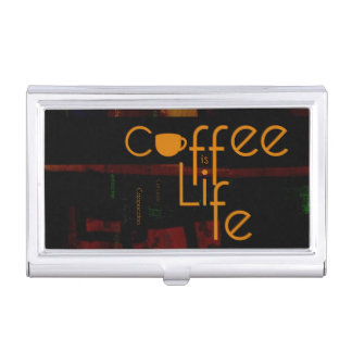 Coffee is Life Case For Business Cards