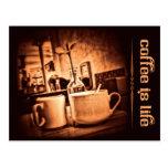 Coffee is Life Postcard