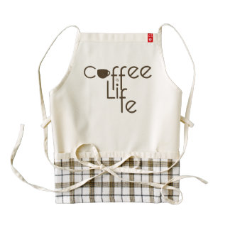 Coffee is Life Zazzle HEART Apron