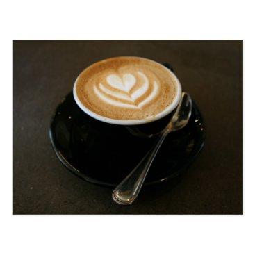 Coffee Themed Coffee is love - postcard