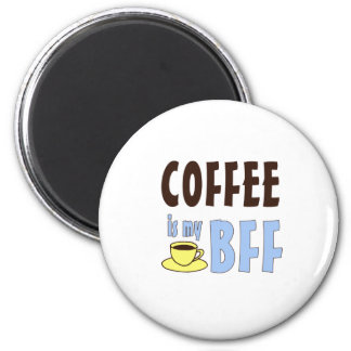 Coffee Is My BFF 2 Inch Round Magnet