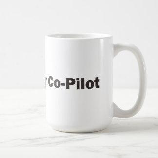 Coffee is my co-pilot coffee mug