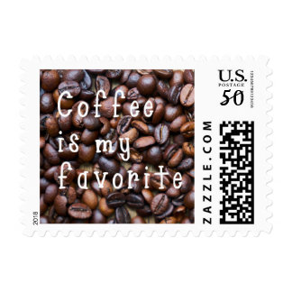 Coffee is my Favorite Coffee Shop Postage Stamps