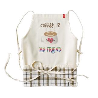 Coffee is My Friend Zazzle HEART Apron