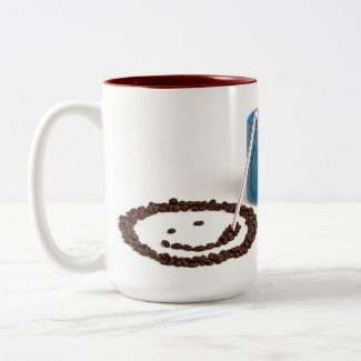 Coffee is My Happy Place 15 oz Two Toned Mug