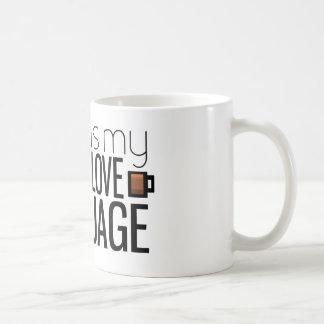 Coffee is my love language coffee mug
