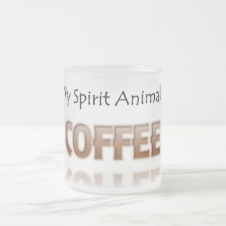 Coffee Is My Spirit Animal Shirt Frosted Mug