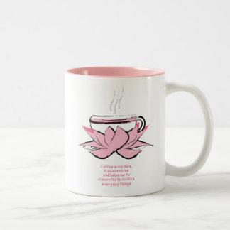coffee is my zen Two-Tone coffee mug