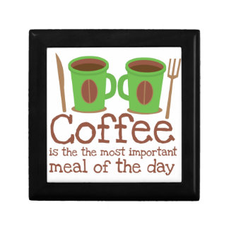 Coffee is the most important meal of the day gift box