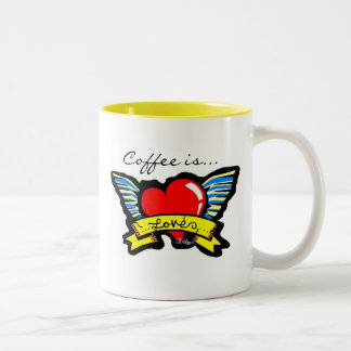 Coffee is... Two-Tone coffee mug