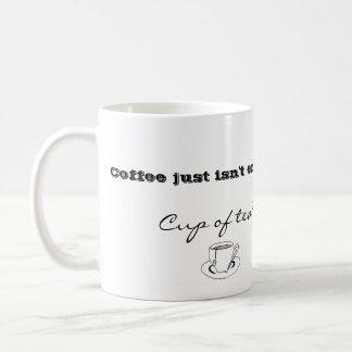 Coffee isn ' t enough mugg. coffee mug