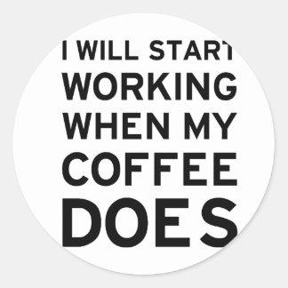 Coffee Isn't Working Classic Round Sticker
