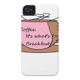 Coffee: It's What's for Breakfast iPhone 4 Cover