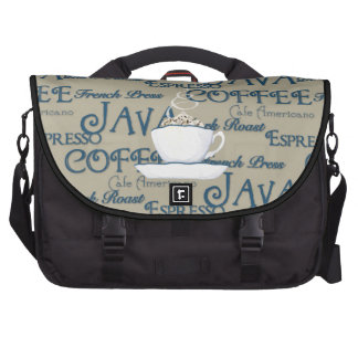 Coffee Java Espresso Chocolate Steaming Cup Commuter Bag