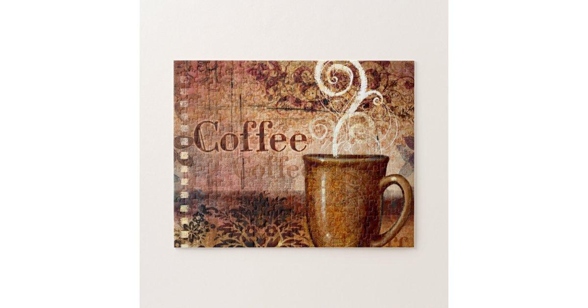 Coffee Jigsaw Puzzle Zazzle Com