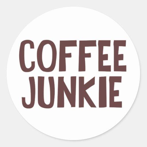 Coffee Junkie Classic Round Sticker