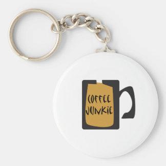Coffee Junkie Coffee Design Basic Round Button Keychain