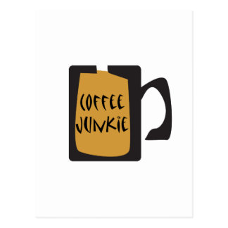 Coffee Junkie Coffee Design Postcard