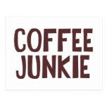 Coffee Junkie Postcard