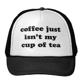 coffee just isn't my cup of tea mesh hat