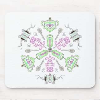 Coffee kaleidoscope mouse pad