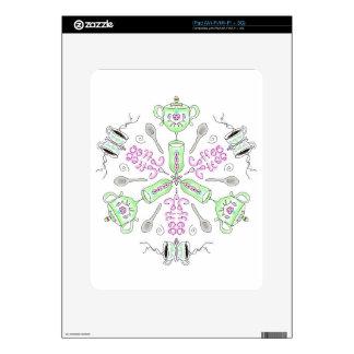 Coffee kaleidoscope skins for the iPad