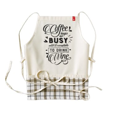 Professional Business Coffee Keeps Me Busy Zazzle HEART Apron