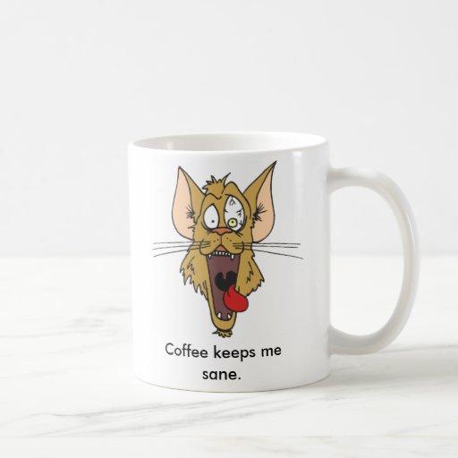 Coffee Keeps Me Sane Classic White Coffee Mug