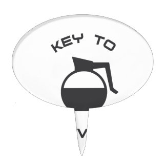 Coffee Key to Survival Cake Topper