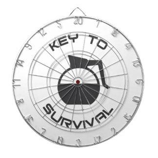 Coffee Key to Survival Dartboard With Darts