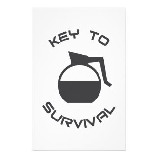 Coffee Key to Survival Stationery