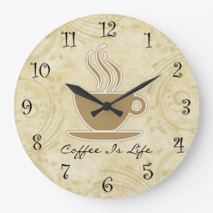 Merveilleux Coffee Kitchen Wall Clocks