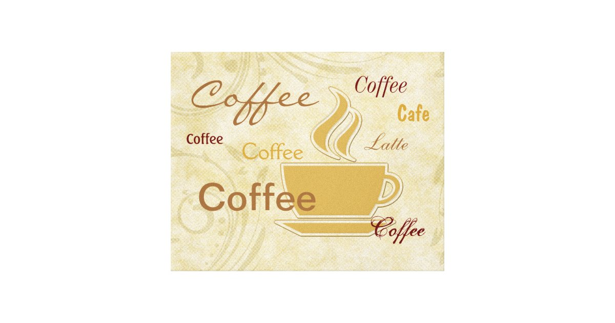 Kohls Coffee Wall Decor : Coffee kitchen wall decor canvas print zazzle