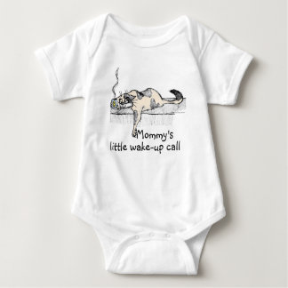 "Coffee Kitty is NOT a morning cat *ahem* ""person""! Baby Bodysuit"