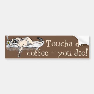 """Coffee Kitty is NOT a morning cat *ahem* """"person""""! Bumper Sticker"""
