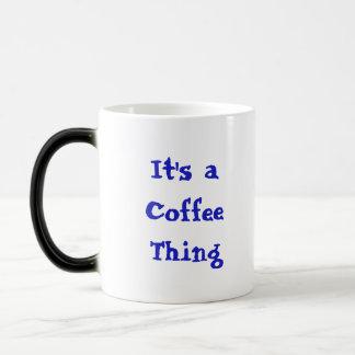 "Coffee Kitty is NOT a morning cat *ahem* ""person""! Magic Mug"