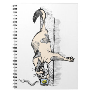 """Coffee Kitty is NOT a morning cat *ahem* """"person""""! Notebook"""