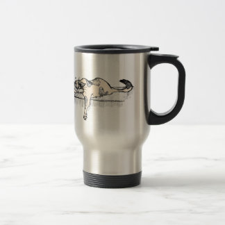 """Coffee Kitty is NOT a morning cat *ahem* """"person""""! Travel Mug"""