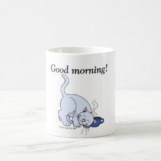 Coffee Kitty Morning Mug - Blue