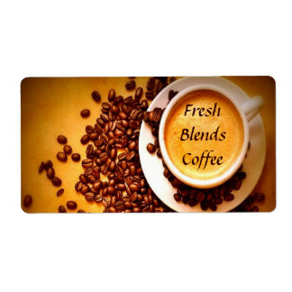 Coffee Labels Shipping Label