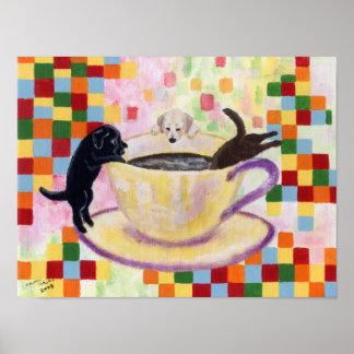 Coffee Labradors Artwork Posters