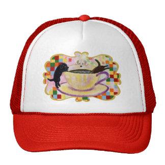 Coffee Labradors Painting Trucker Hat