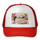 Coffee Labradors with colorful Dots Hat