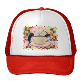 Coffee Labradors with colorful Dots Trucker Hat