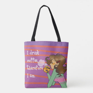 coffee lady tote bag