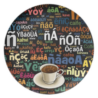 Coffee Language Plate