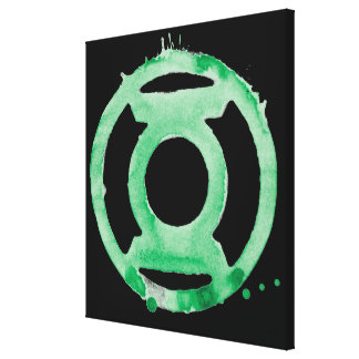 Coffee Lantern Symbol - Green Gallery Wrapped Canvas