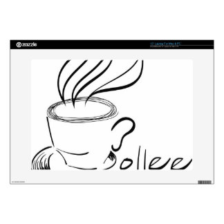 coffee laptop decal