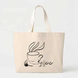 coffee large tote bag